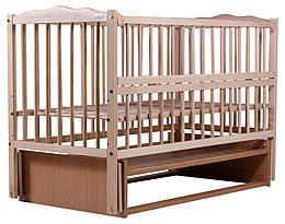 """Кровать Babyroom """"Веселка"""", маятник, откидной бок, DVMO-2, бук светлый, 622002"""
