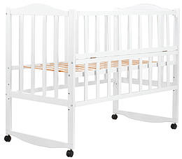 """Кровать Babyroom """"Зайчонок"""" ZL101, откидной бок, белая, 624699"""