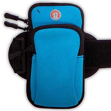Чехол-кошелек на руку для бега C-0326 (полиэстер, р-р 9x7см, крепление на липучке, цвета в ассортименте), фото 2