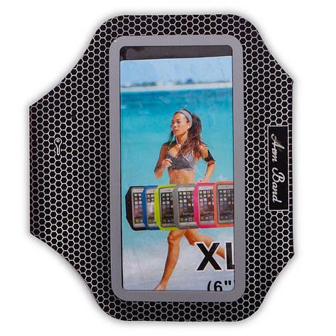Чехол для телефона с креплением на руку для занятий спортом С-0328 (для iPhone и iPod 18x7см, цвета в, фото 2