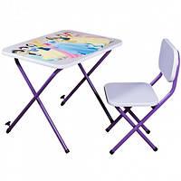 Детский стол-парта со стульчиком Ommi Принцесса фиолетовая