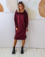 Женское спортивное платье с начесом больших размеров, фото 1