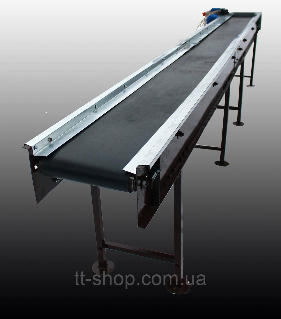 Стрічковий конвеєр довжиною 14 м, ширина стрічки 1000 мм дв 5,5 кВт.