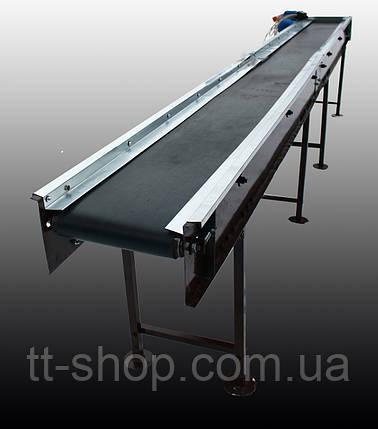 Стрічковий конвеєр довжиною 14 м, ширина стрічки 1000 мм дв 5,5 кВт., фото 2