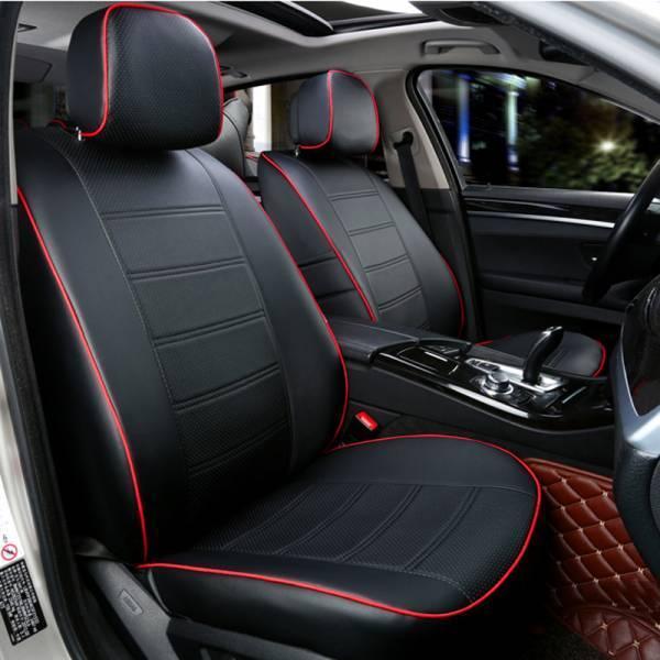 Чехлы на сиденья Опель Виваро (Opel Vivaro) 1+1  (модельные, экокожа, отдельный подголовник, кант)