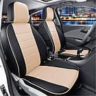 Чехлы на сиденья Опель Виваро (Opel Vivaro) 1+1  (модельные, экокожа, отдельный подголовник, кант), фото 2