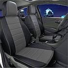 Чехлы на сиденья Опель Виваро (Opel Vivaro) 1+1  (модельные, экокожа, отдельный подголовник, кант), фото 4