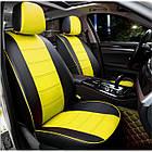 Чехлы на сиденья Опель Виваро (Opel Vivaro) 1+1  (модельные, экокожа, отдельный подголовник, кант), фото 6