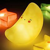 Ночник светильник в виде месяца для детской комнаты на батарейках 1493, фото 4