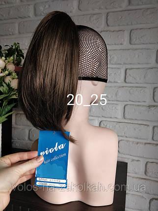 Хвост накладной на крабе шиньон ровный цвет черный коричневый блонд шиньен на заколке на зажиме, фото 2