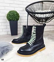 Стильные женские демисезонные ботинки с яркими шнурками  LS-68, фото 2
