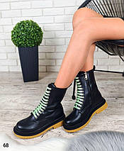 Стильные женские демисезонные ботинки с яркими шнурками  LS-68, фото 3