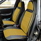 Чехлы на сиденья Ниссан Микра (Nissan Micra) (универсальные, кожзам+автоткань, пилот), фото 5