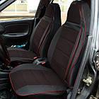 Чехлы на сиденья Ниссан Микра (Nissan Micra) (универсальные, кожзам+автоткань, пилот), фото 6