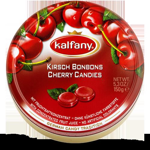 Льодяники Kalfany Cherry Candies вишня 150г, 10 шт/ящ