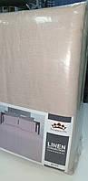 Льняной комплект постельного белья пудрового цвета (Дуэт! 2 пододеяльника + 4 наволочки), фото 1