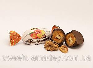 Конфеты Персик с грецким орехом в глазури, Амадей, 1 кг