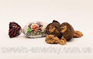 Конфеты Инжир с грецким орехом в глазури, Амадей, 1 кг