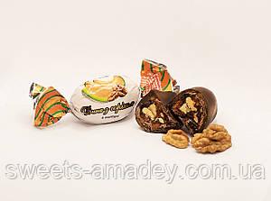 Конфеты Дыня с грецким орехом в глазури, Амадей, 1 кг