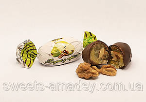 Конфеты Груша с грецким орехом в глазури, Амадей, 1 кг