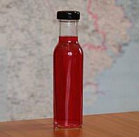 Пляшка скляна для соусу/кетчупу твіст 0,25 л то-38 DEEP з кришкою в комплекті