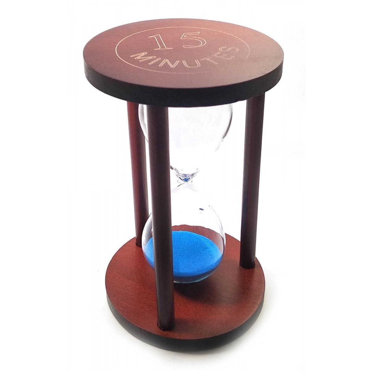 Песочные часы настольные синий песок 15 мин