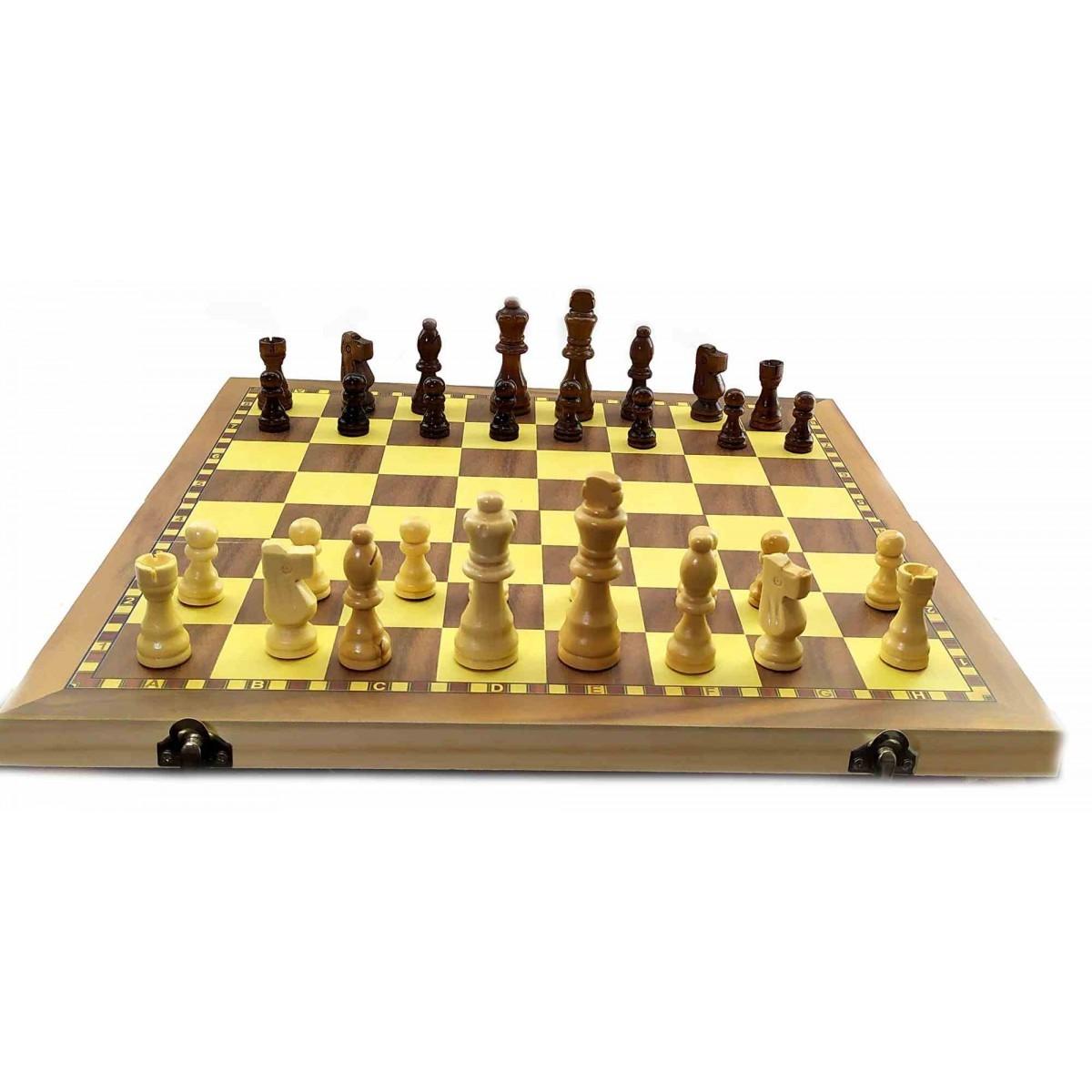 Шахматы магнитные деревянные
