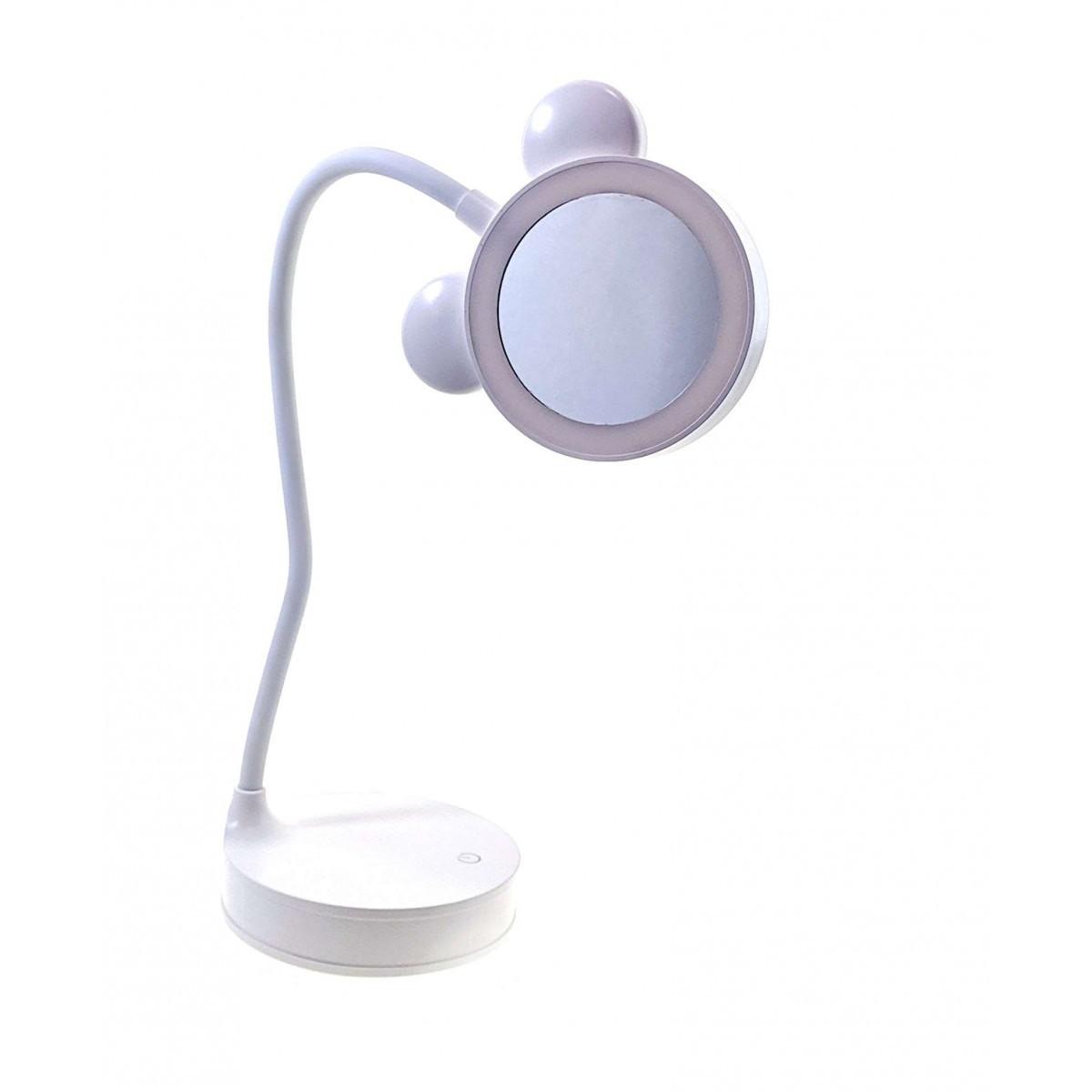 Зеркало с LED  подсветкой для макияжа настольное