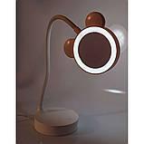 Зеркало с LED  подсветкой для макияжа настольное, фото 3