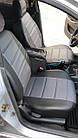 Чехлы на сиденья Рено Трафик (Renault Trafic) 1+1 (универсальные, кожзам, с отдельным подголовником), фото 2