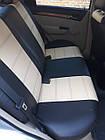 Чехлы на сиденья Рено Трафик (Renault Trafic) 1+1 (универсальные, кожзам, с отдельным подголовником), фото 6