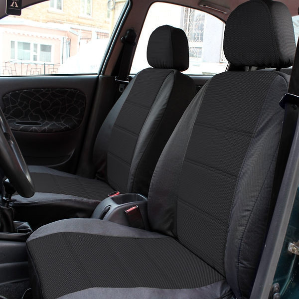 Чехлы на сиденья Рено Трафик (Renault Trafic) 1+1 (универсальные, автоткань, с отдельным подголовником)