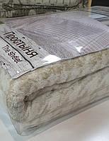 """Льняная махровая простыня """"Гленчек крупный"""" (220 на 200 см), фото 1"""