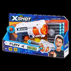 Скорострільний бластер X-Shot Excel Fury 4 (16 патронів) (36377Z)