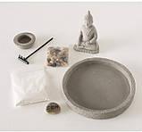 Декоративный набор «Дзен» подсвечник с фигурой Будды D19 см, фото 4