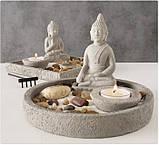 Декоративный набор «Дзен» подсвечник с фигурой Будды D19 см, фото 3