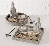 Декоративный набор «Дзен» подсвечник с фигурой Будды D19 см, фото 9