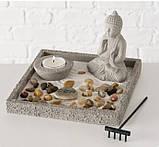 Декоративный набор «Дзен» подсвечник с фигурой Будды D19 см, фото 2