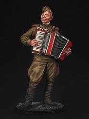 Лейтенант Червоної Армії з акордеоном. 1944-45 рр.   Масштаб 1:32   E. K. Castings