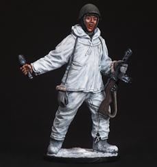Автоматник піхоти Червоної армії в зимовому камуфляжі, 1941-45 рр.   Масштаб 1:32   E. K. Castings