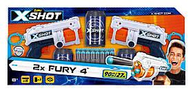 Набір скорострільних бластерів X-Shot Excel Fury (2 види зброї, 3 банки, 16 патронів) (36329Z)