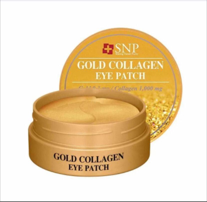 Гидрогелевые патчи для век с коллагеном и частицами золота SNP Gold Collagen 60шт CMD-111