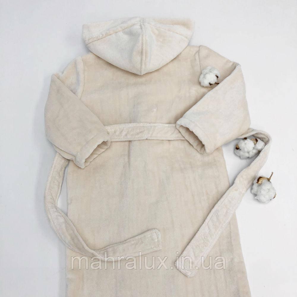 Детский халат из кремовой велюровой махры