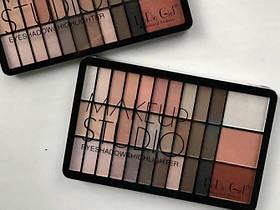Палетка теней для век и хайлайтеров DoDo Girl Makeup Studio D4047A