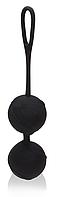 Вагінальні кульки для тренувань Odeco, premium Silicone Balls, чорні, фото 1