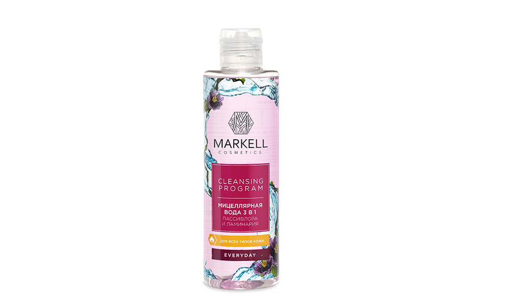 Мицеллярная вода 3в1  Markell Cleansing Program Пассифлора и ламинария, 200 мл арт. 16142