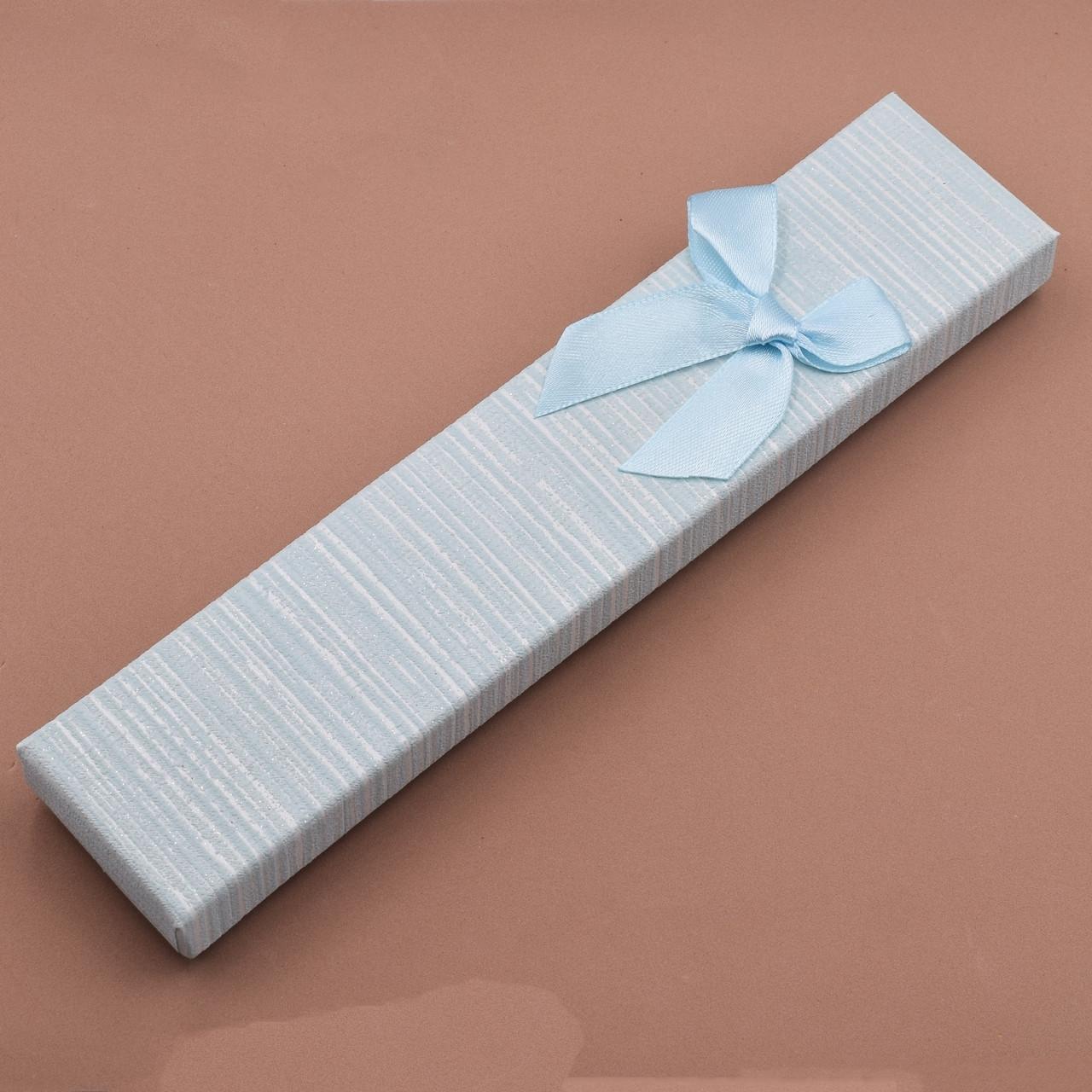 Футляр голубой 740169 для цепочек браслетов размер 21х4 см