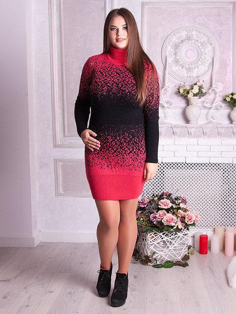 В'язане плаття Леопард (48-58) червоний