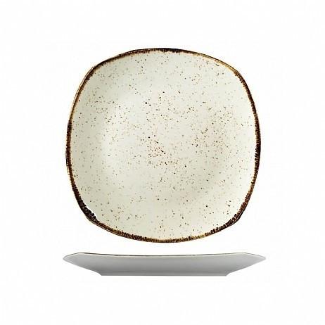 Тарелка квадратная фарфоровая цветная мелкая Kutahya ATLANTIS 250мм.