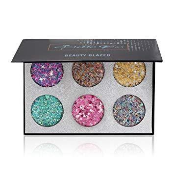 Палетка глитеров Beauty Glazed Glitter Bar 6 цветов арт.B22 Палитра A